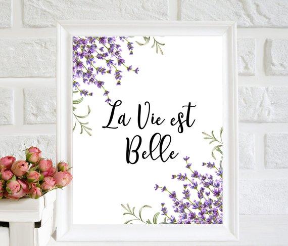 La Vie Est Belle French Quote Home Poster Home Wall Art Etsy In 2020 Etsy Wall Art Home Poster Home Wall Art