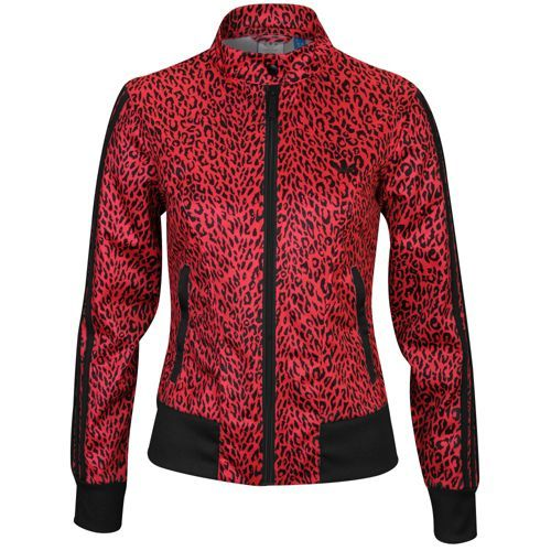 adidas Originals Supergirl Print Track Jacket - Women's - Casual - Clothing - Blaze Pink/Black