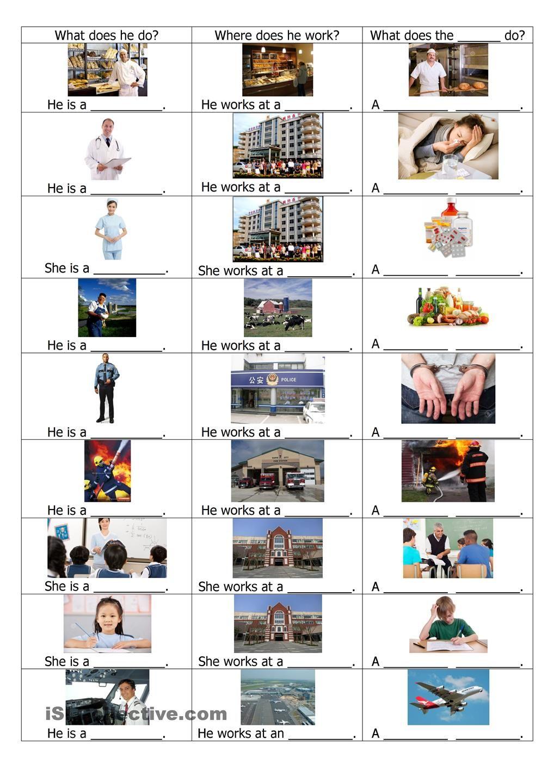 Workbooks worksheets jobs : Jobs: ESL worksheet of the day of August 31, 2015 by ...