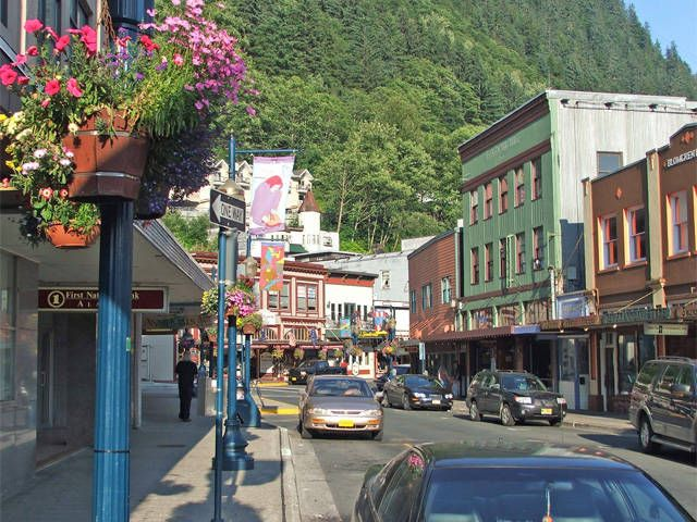 Shops at Juneau, Alaska - yes, lots of shopping to be had! ;-)