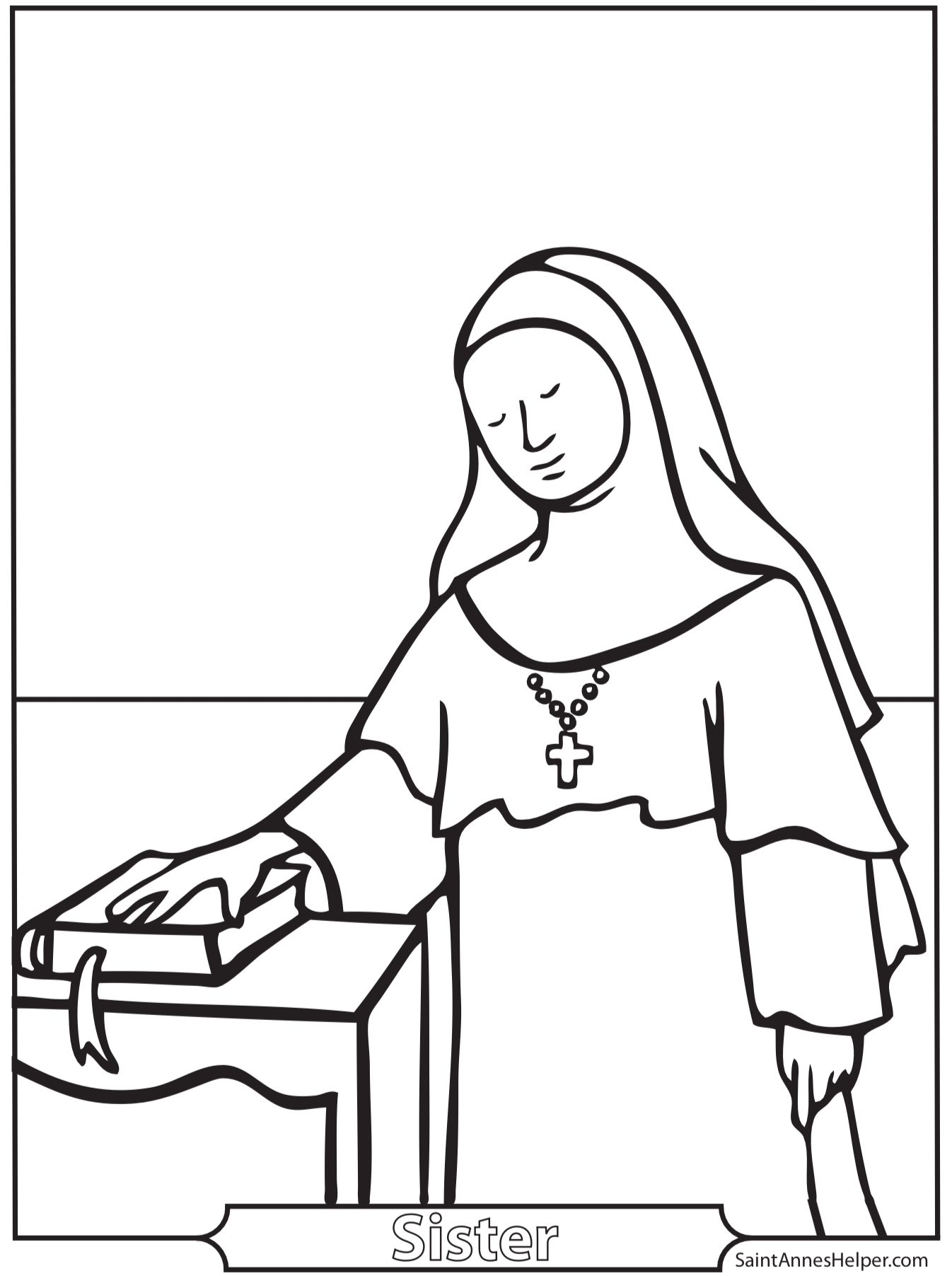 St Joseph Coloring Page Printable