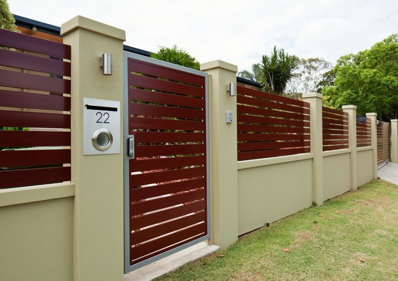 Residential walls gallery modular walls boundary walls for Front garden fence designs