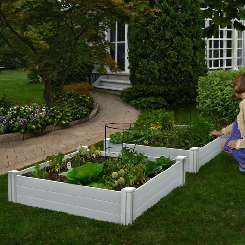 White Vinyl Raised Garden Bed 2 Pack Costco 5 Stars With Images