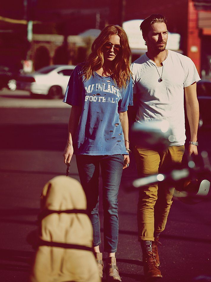 Free People Destroyed Graphic Boyfriend Tee at Free People Clothing Boutique