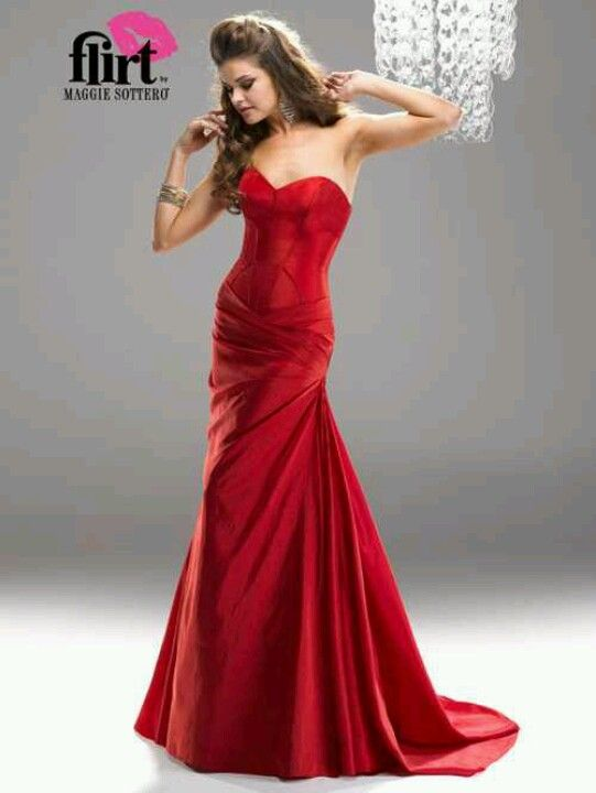 red corset prom dress | Prom | Pinterest | Corset prom dresses, Red ...
