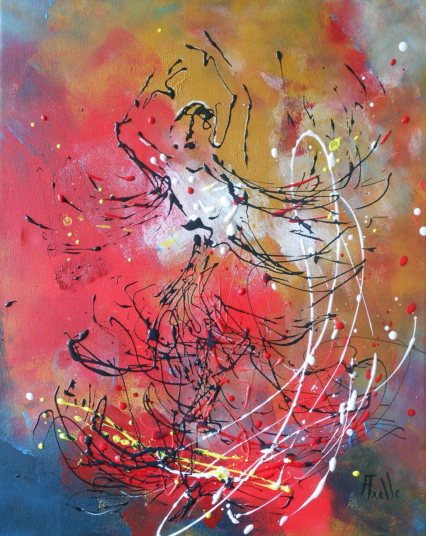 Tableau Flamenco Peinture Intuitive Peintures Axelle Bosler