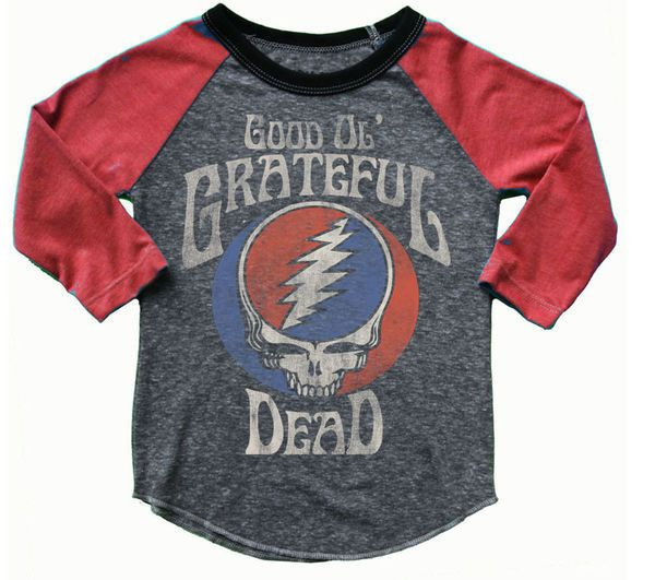 1004c9516f8a Kids Rowdy Sprout Grateful Dead Baseball Tee shopfreebirdsboutique.com  Instagram  freebirds boutique