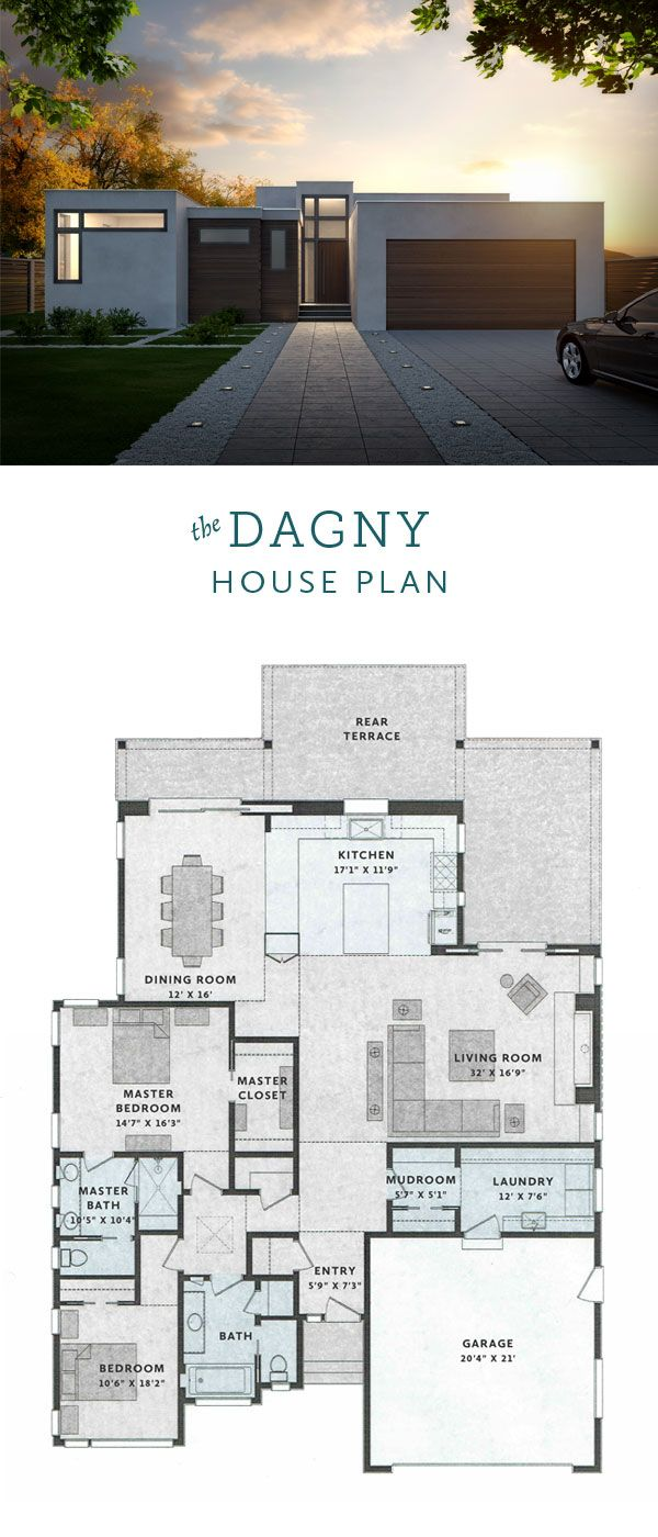 Dagny Modern House Plan 2 Bedrooms 2 Bathrooms 2400 Sq Ft Modern Bungalow House House Plans Dream House Plans
