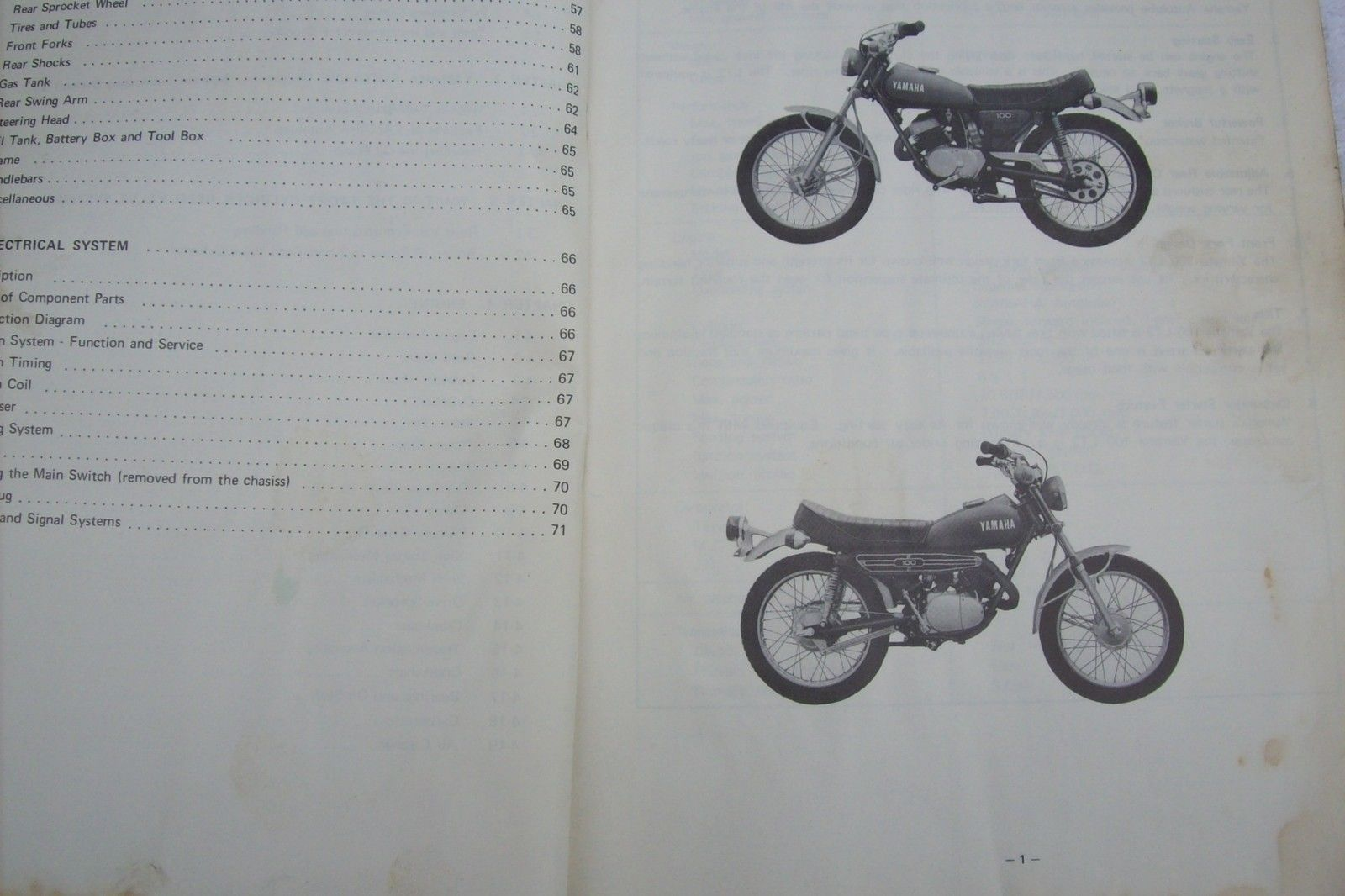 yamaha Array - 72 yamaha service manual lt2 100 enduro vintage bike parts  ahrma mx rh pinterest
