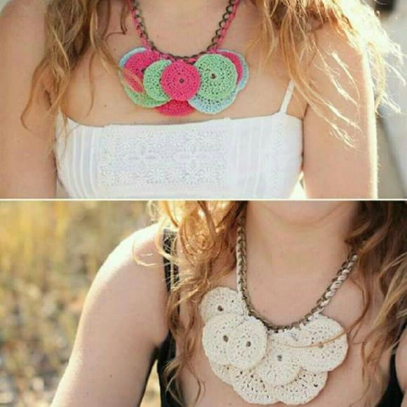 Necklace Handmade crochet Handmade crochet accepted custom orders for colors Handmade  Jewelry Necklaces