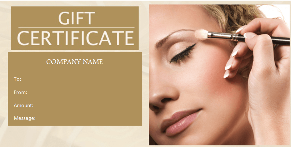 Beauty Gift Certificate Template | Arts - Arts