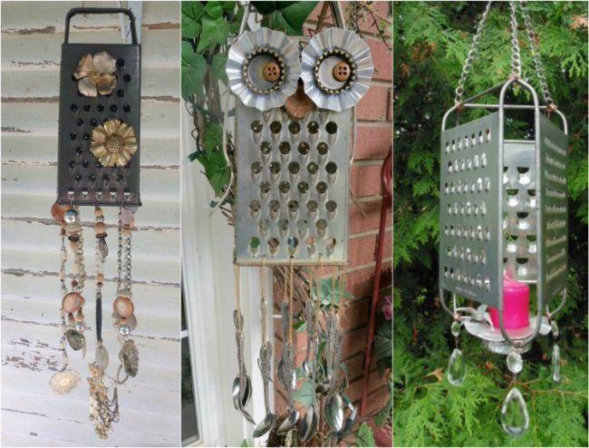 gartendeko selber machen windspiele besteck perlen alte halsketten garten pinterest garden. Black Bedroom Furniture Sets. Home Design Ideas
