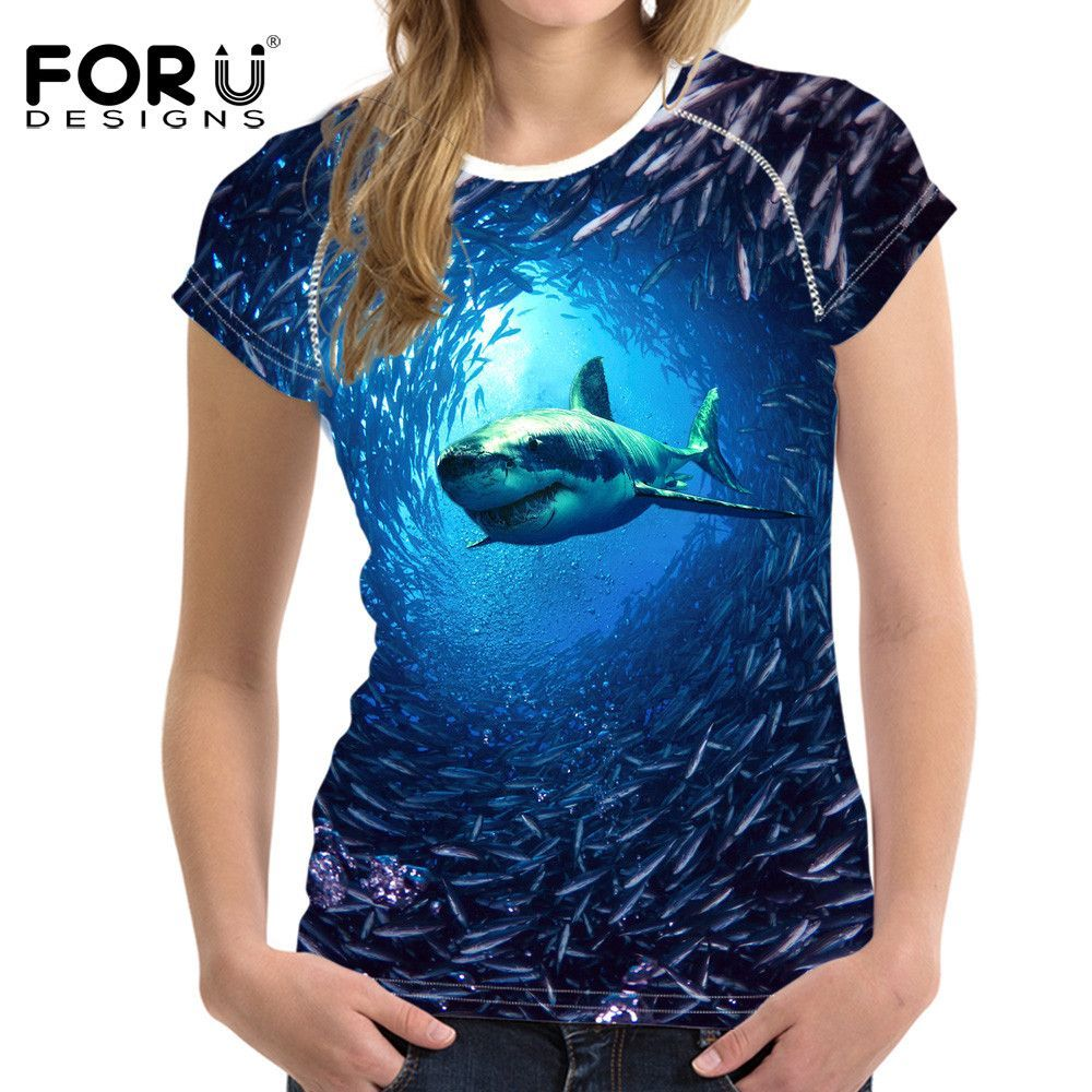 Shark Customized Womens Tee
