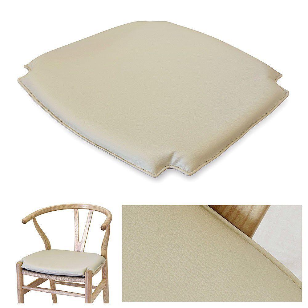 Wishbone CH24 Y Chair Style PU(Bicast Leather) Seat Cushion Pad ...