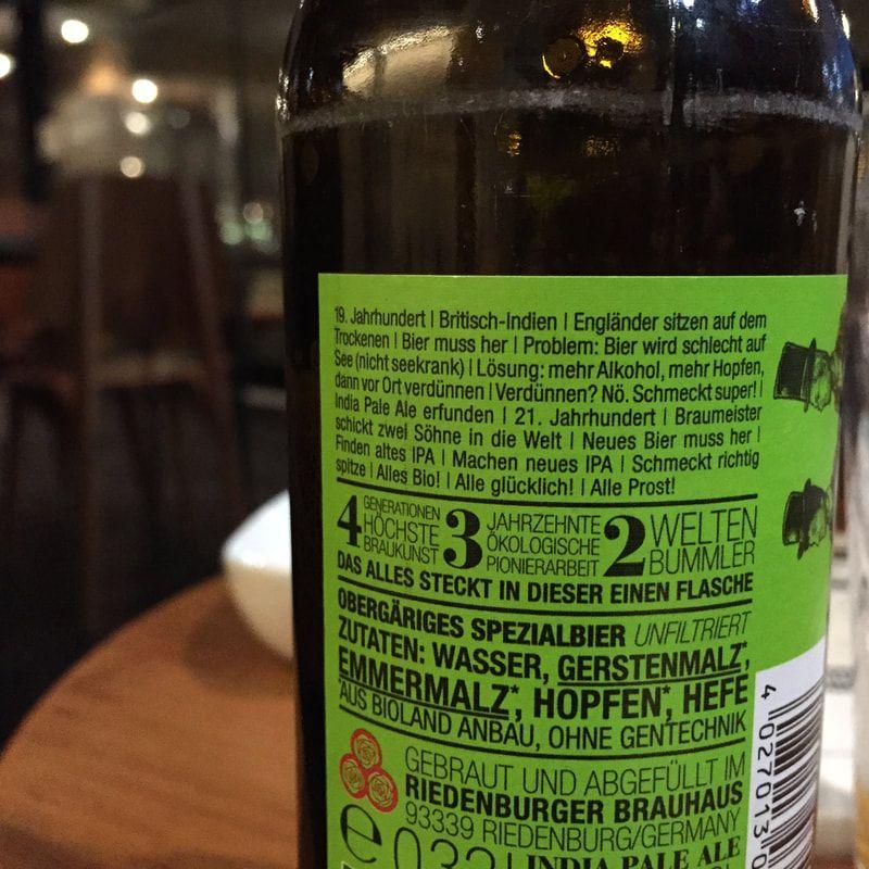 Bier Inhaltsstoffe