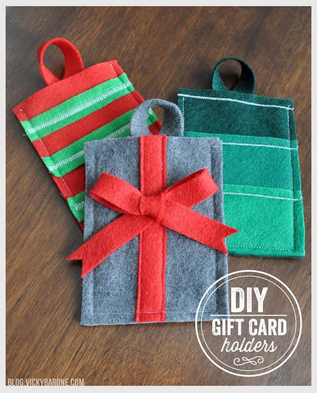 DIY Felt Gift Card Holder | Christmas Gift Card Pocket | Holiday Gift Cards  | Clever