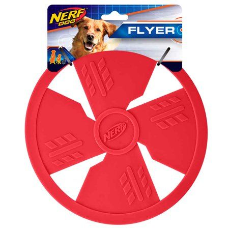 Interactive Dog Toys Nerf Classic TPR Flyer Interactive Dog Toys, 10-inch, Red - Walmart.com