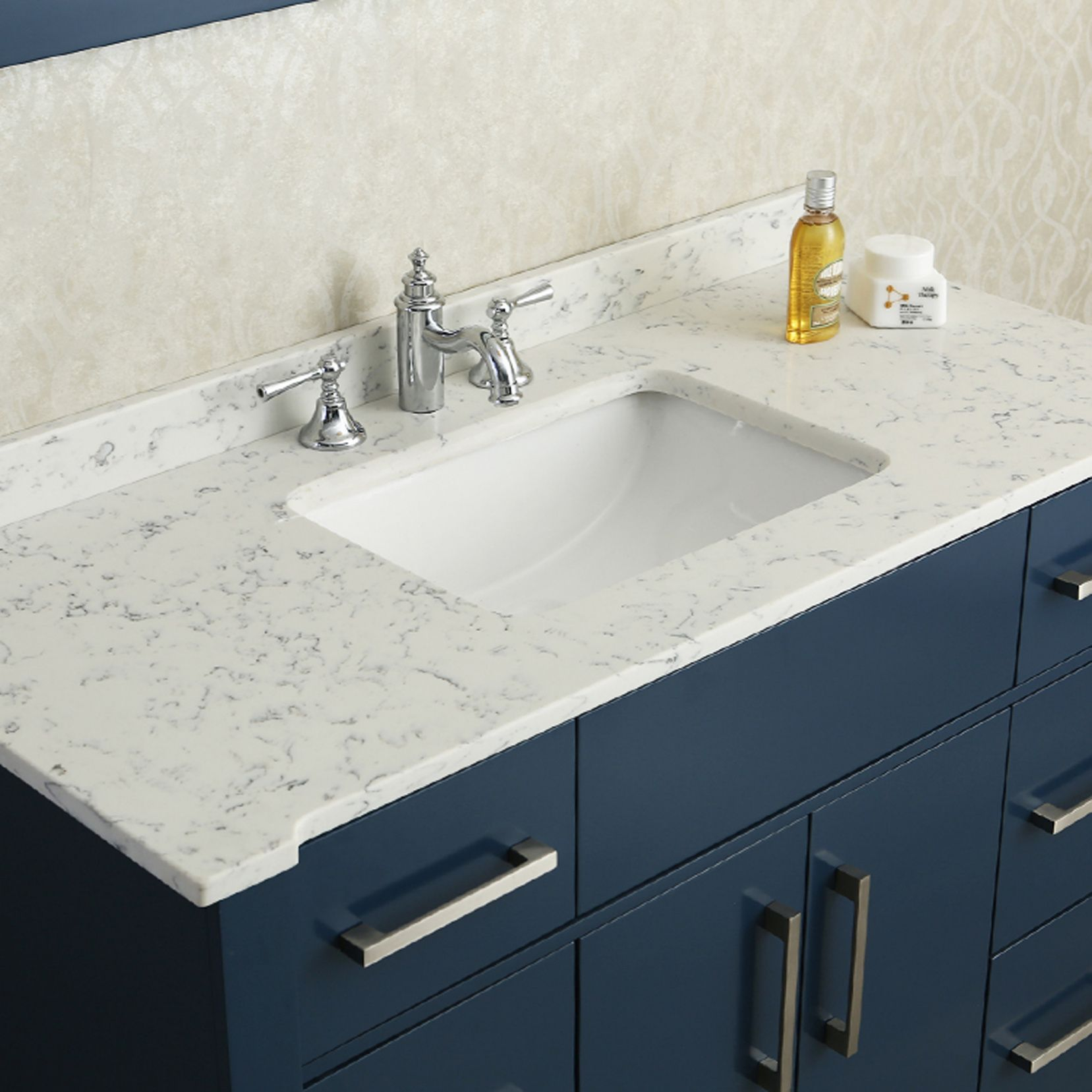 99+ Quartz Bathroom Countertop - Kitchen island Countertop Ideas ...