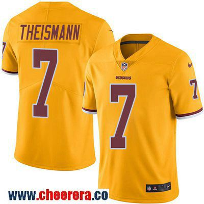 Men s Washington Redskins  7 Joe Theismann Gold 2016 Color Rush Stitched  NFL Nike Limited Jersey 85d0d3c04
