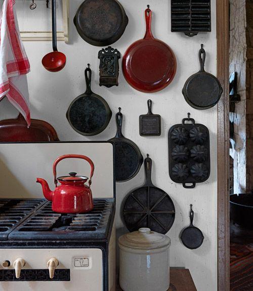 Kitchen Skillet: Vintage Stoves, Cabin Kitchens, Vintage