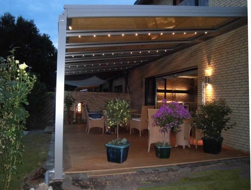 Terrassendach #Beleuchtung schafft eine stimmungsvolle Atmosphäre ...