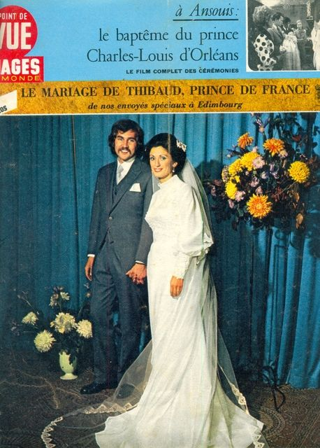 23 septembre 1972 mariage du prince thibault d 39 orl ans et marion gordon orr royal wedding. Black Bedroom Furniture Sets. Home Design Ideas