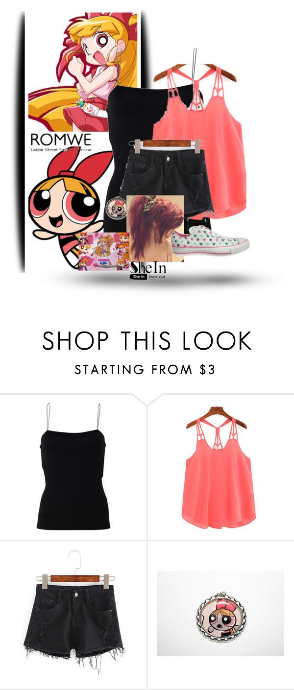 """""""Blossom"""" by lynda-dover ❤ liked on Polyvore featuring T By Alexander Wang and Converse"""