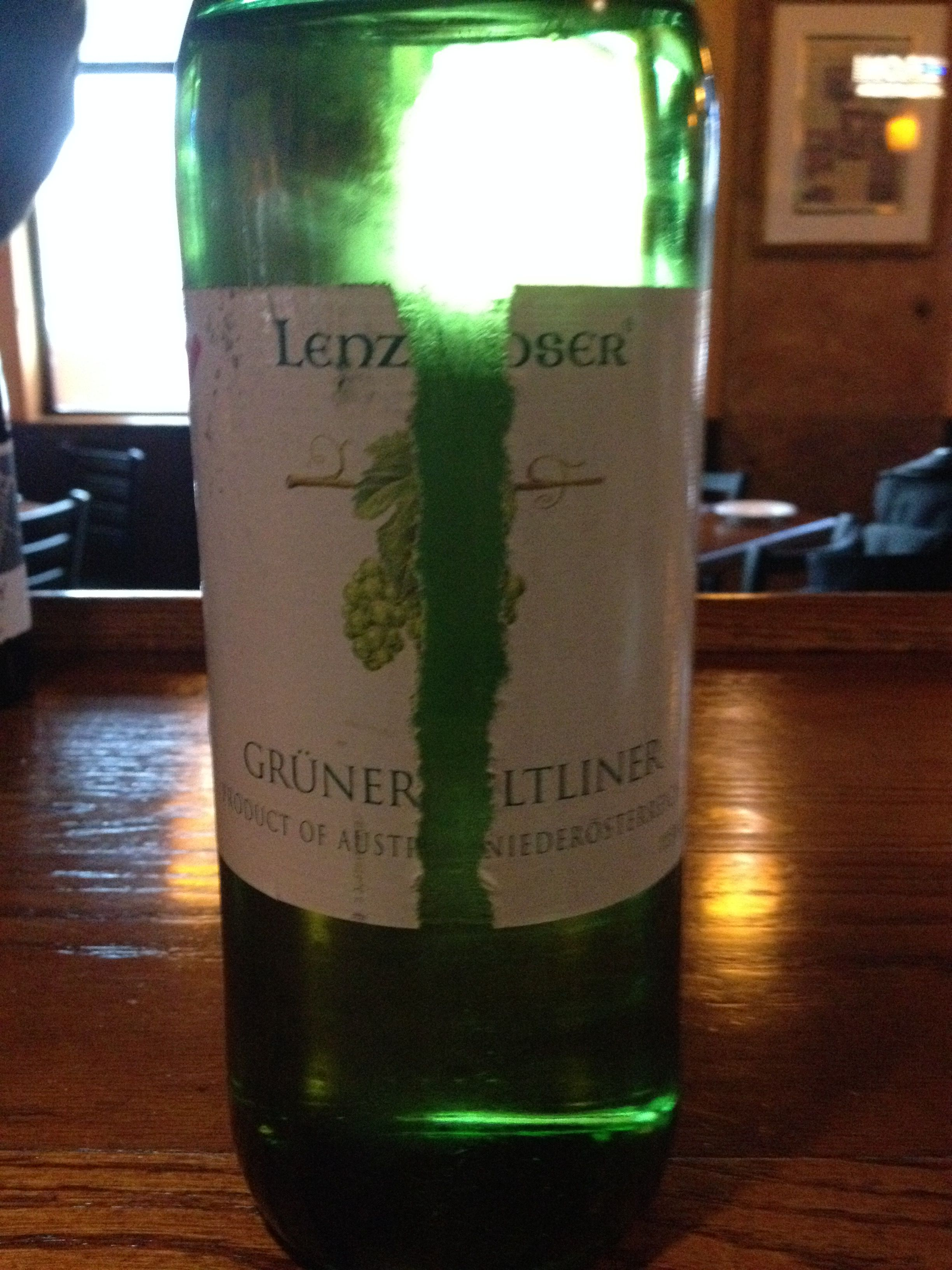Lenz Mosser Gruner Veltliner - Light and refreshing with notes of oil, minerals, some light white fruits. Very light on the palate, excellent as an opening course wine in the summer.