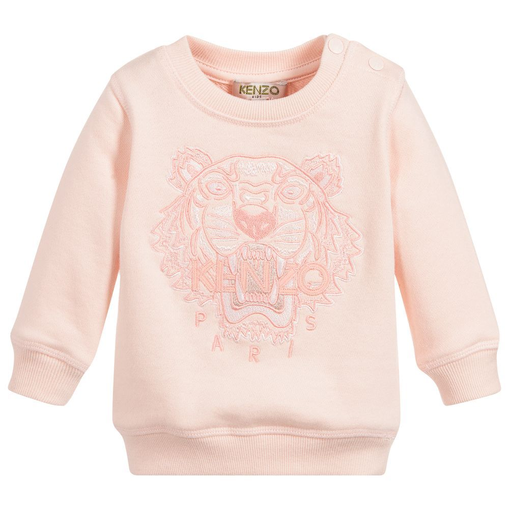 ba1dda367 Embroidered in pink and white, with the signature Mini-me Kenzo Kids ...