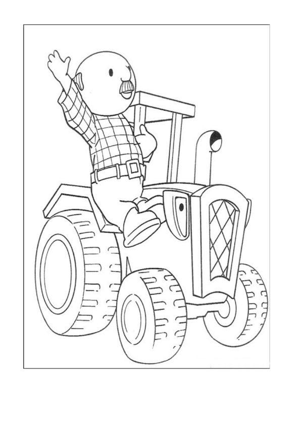 Desenhos para colorir para crianças. Desenhos para imprimir e colorir Bob o construtor 16