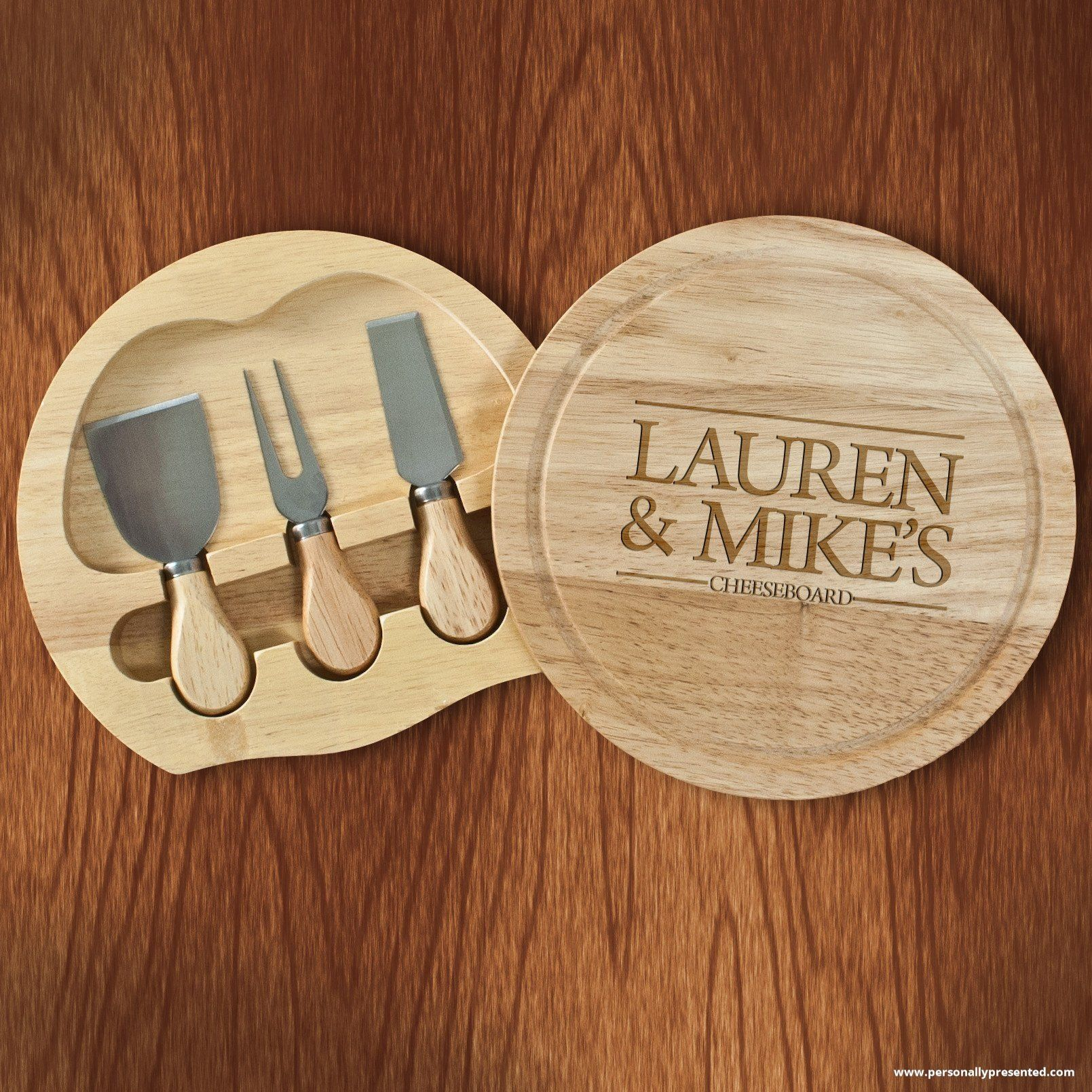 Personalised Couple Cheese Board Personalized cheese