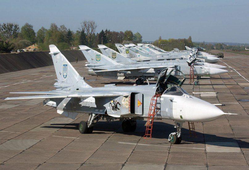 """Ukrainian AF_Parking Su-24 """"Fencer""""."""