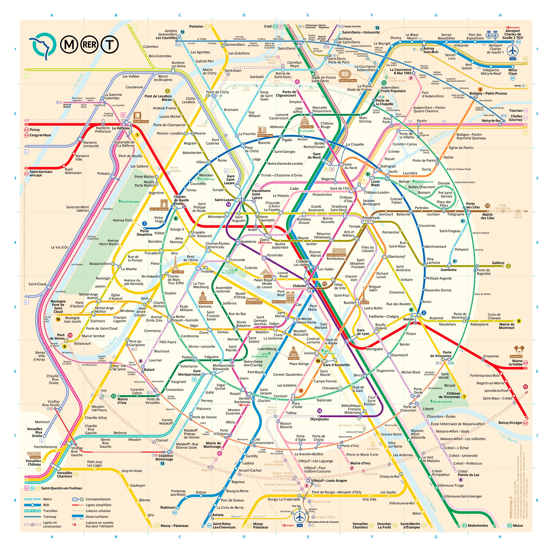 Paris Metro Map The Redesign Paris Metro Paris Map Metro Map