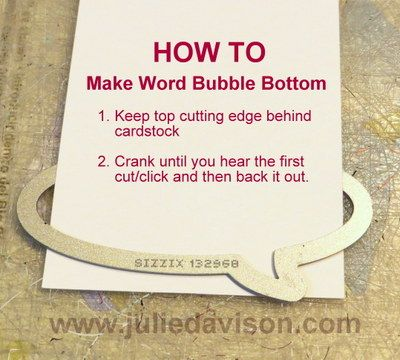 Julie's Stamping Spot -- Stampin' Up! Project Ideas Posted Daily: Banner Blast Word Bubble + LAST DAY of Sale-a-bration!