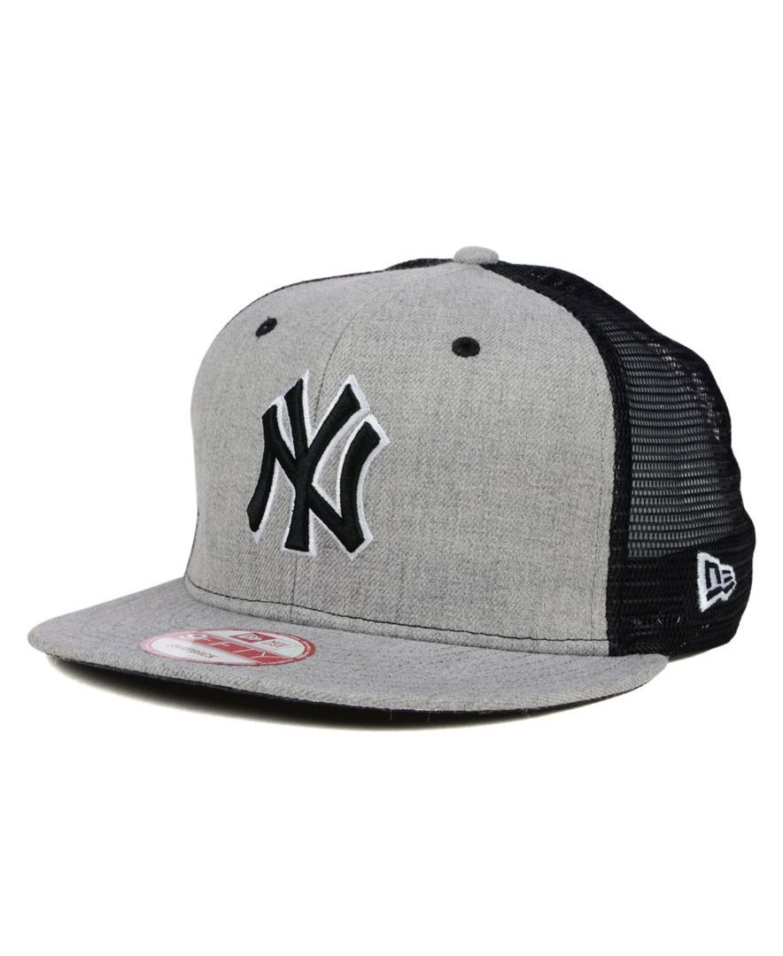 New Era New York Yankees Heather Trucker 9FIFTY Snapback Cap ... 0ae95cff88f1