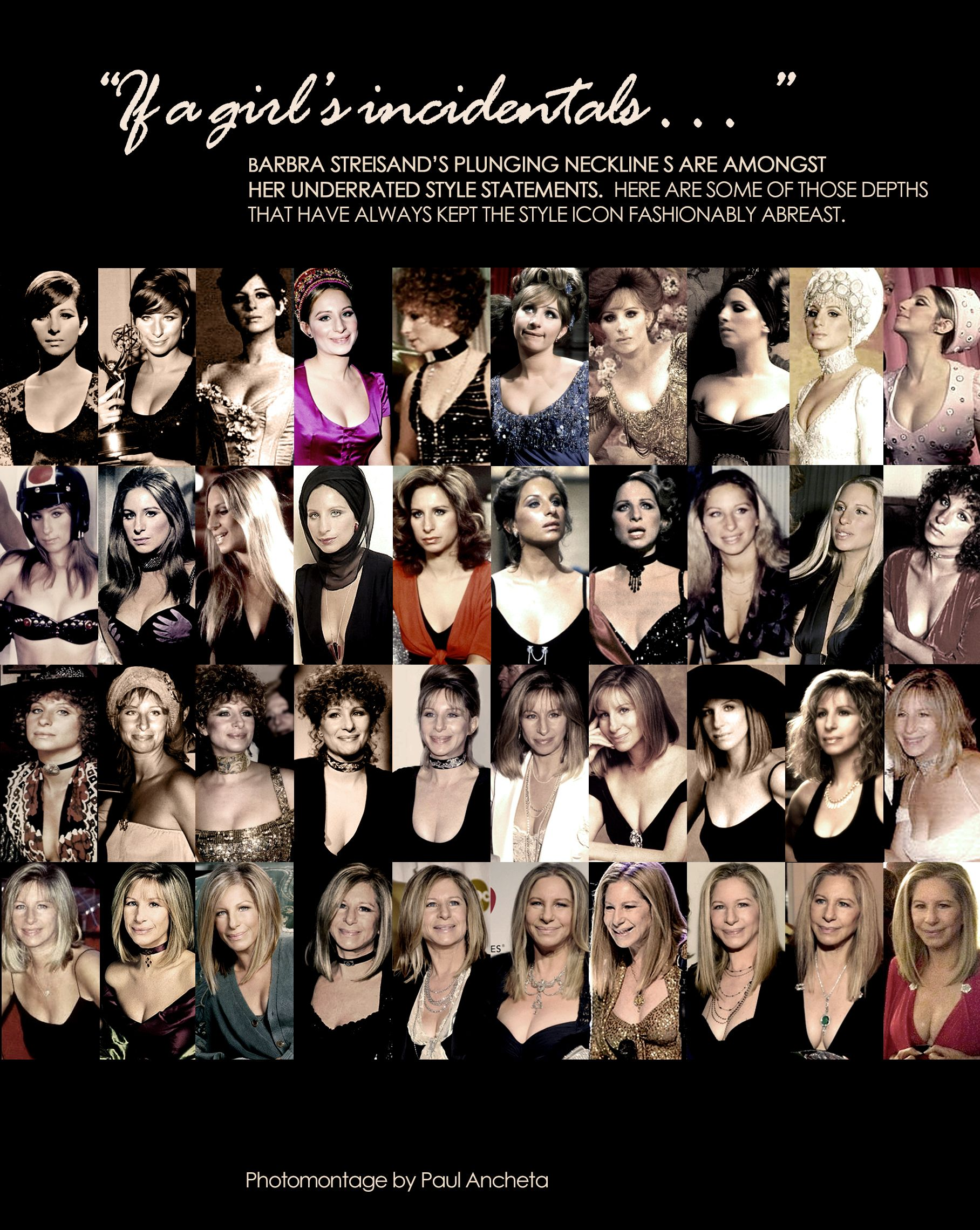 Barbra Streisand's fashionable plunge through the years.