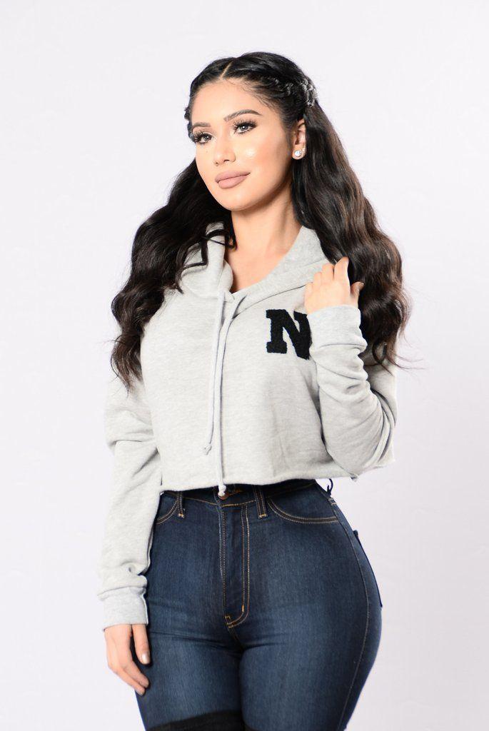 85545e4cd2 Nova Hoodie - Heather Grey. Nova Hoodie - Heather Grey Stylish Clothes For  Women