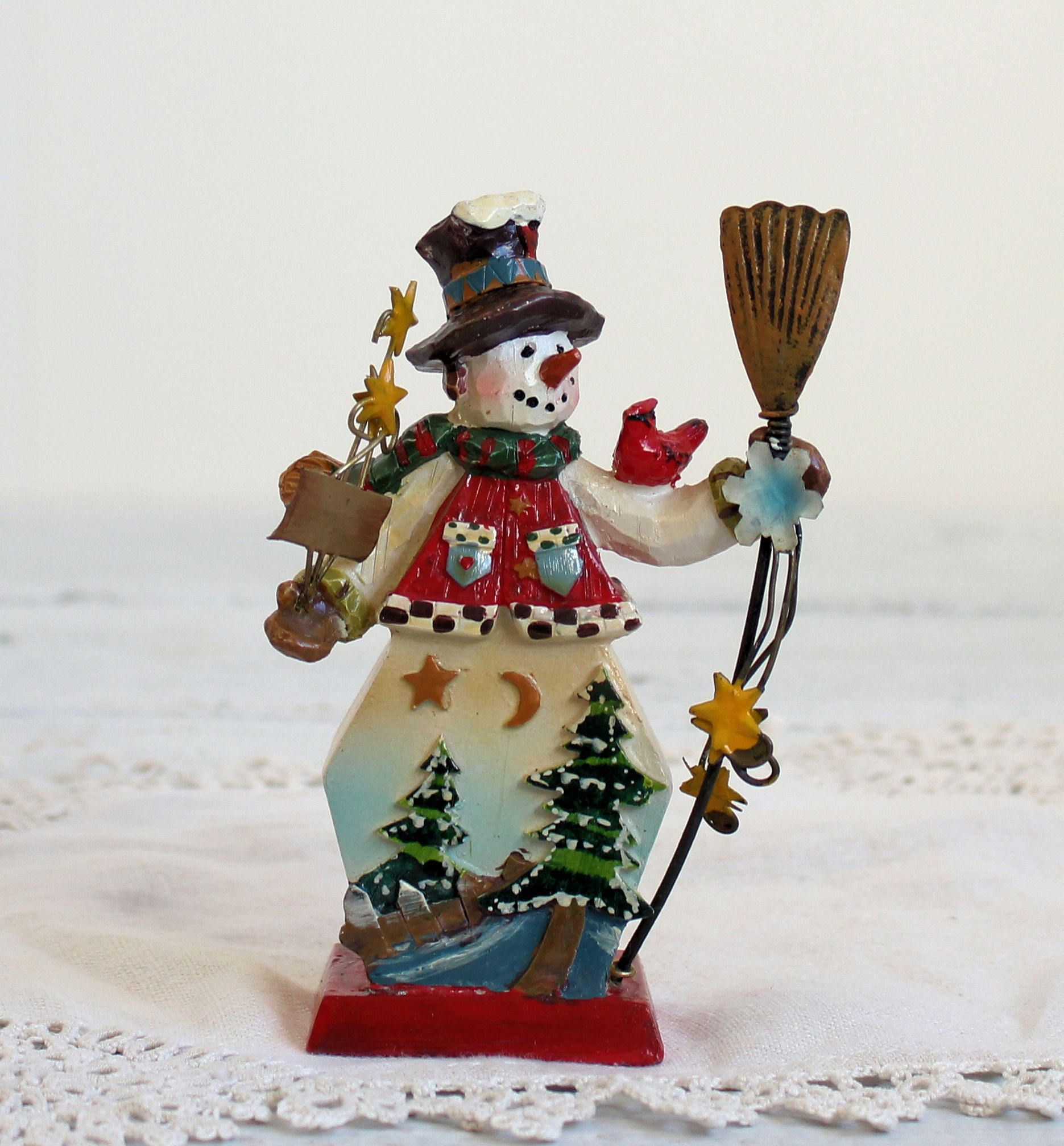 Snowman Christmas Ornaments Red Decoration Snowman for