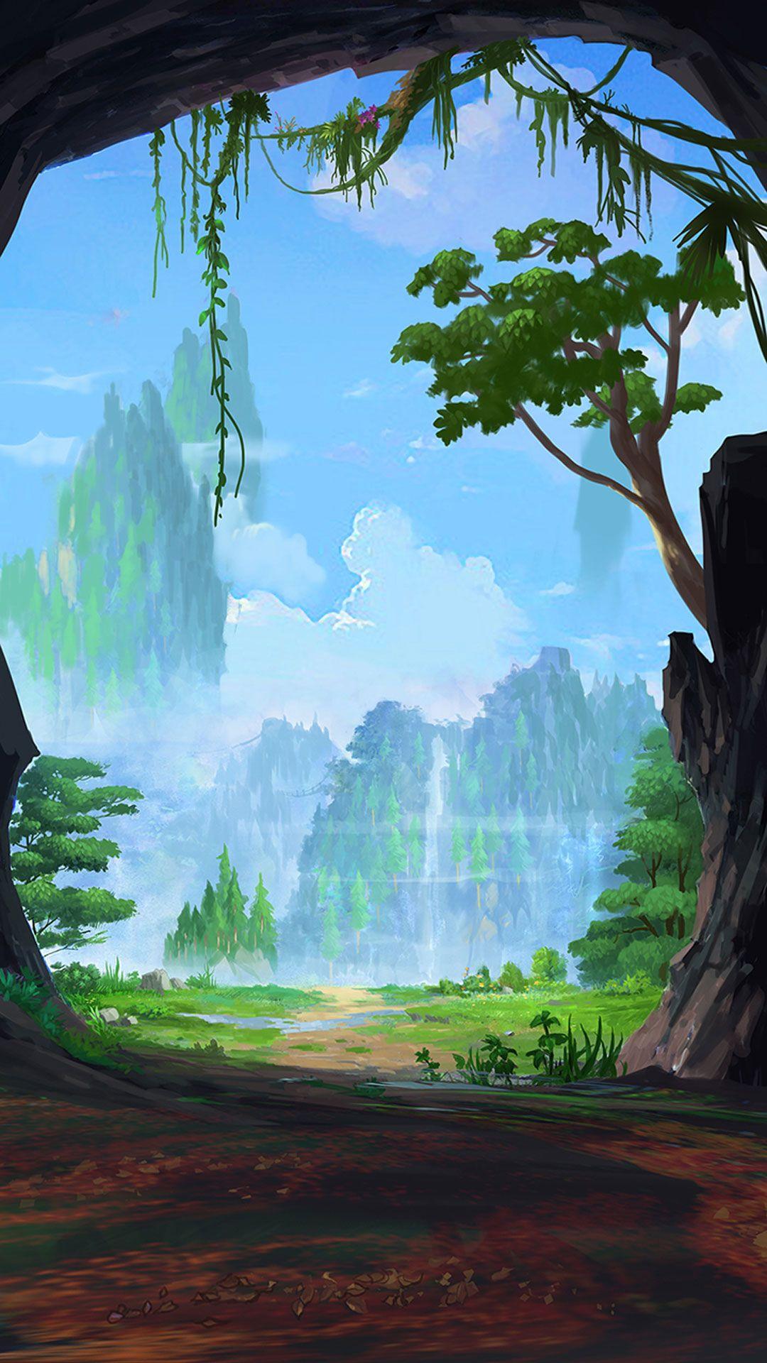 The Art Of Animation Fantasy Landscape Landscape Art Landscape Illustration