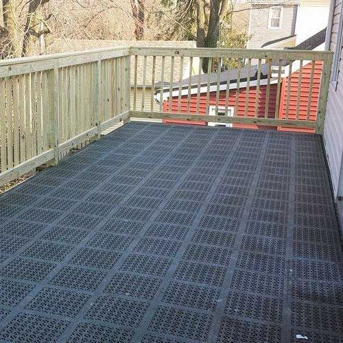 Rubber Staylock Perforated Deck Tile Outdoor Outdoor Flooring