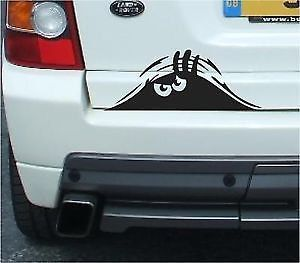 Peeking Monster Vinyl Sticker Decal For Cars Walls Funny Graphic - Vinyl decals for cars