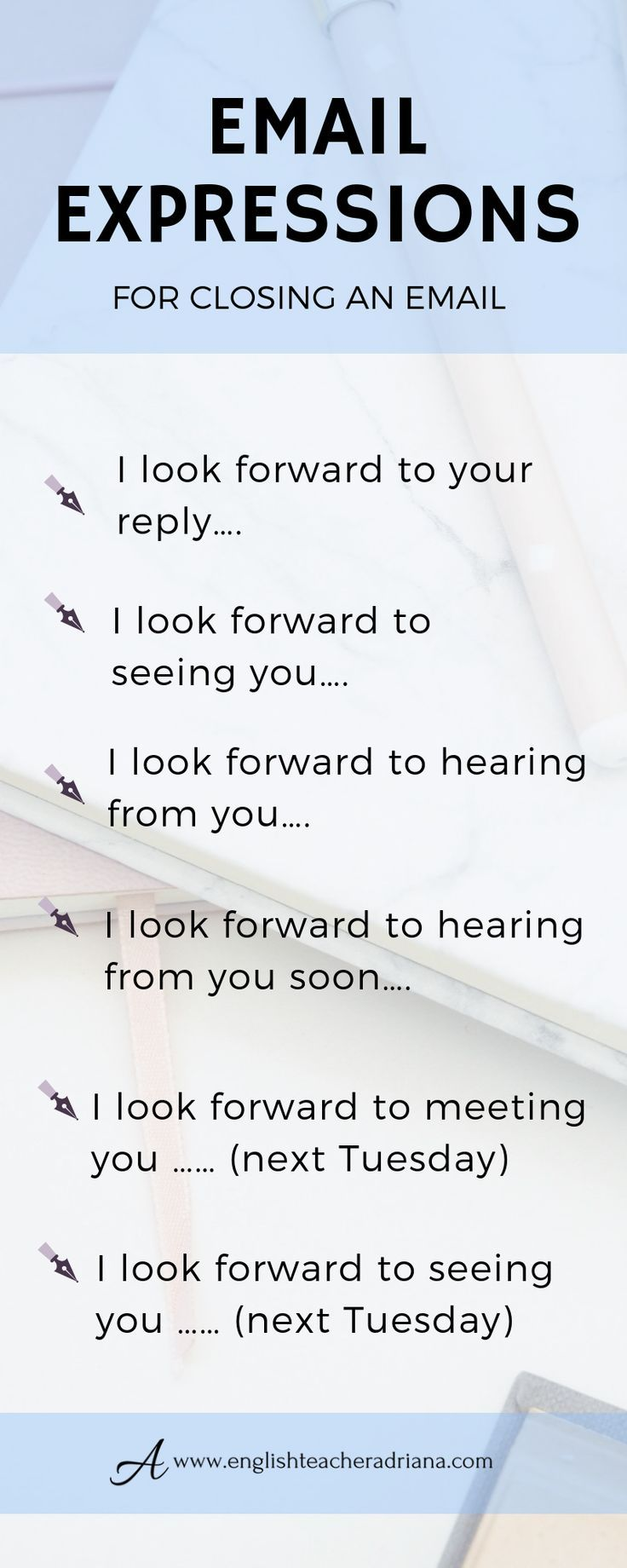 Looking forward to meeting you email