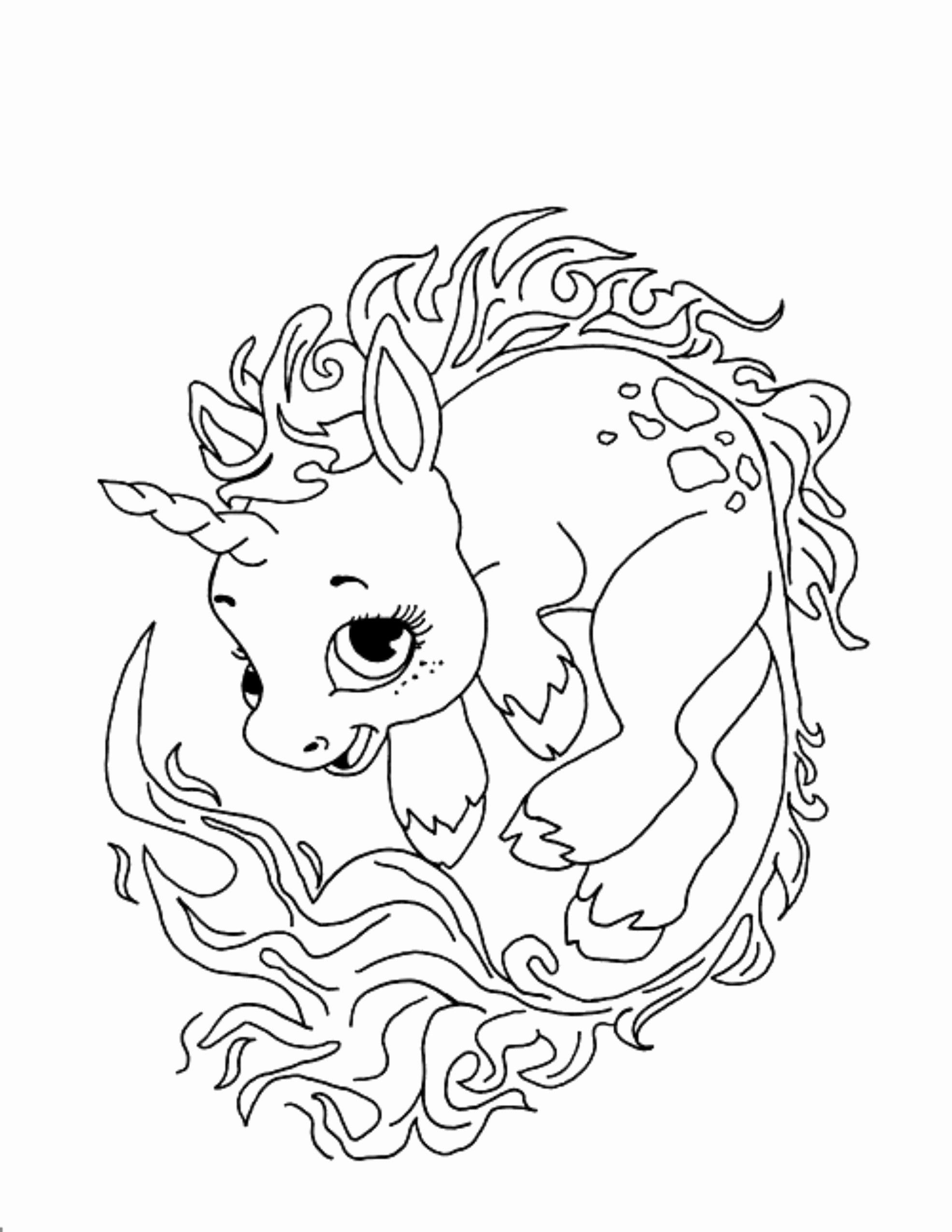 Baby Unicorn Coloring Page in 2020 | Space coloring pages ...