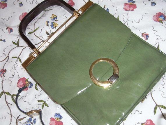 70erEchtLederLackhandtasche neuwertig von treasuresmakeshappy