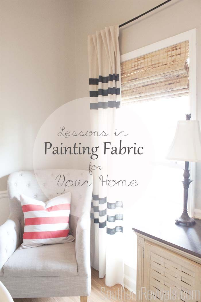 Lessons In Painting Fabric | Stencils + Fabric Paints   Southern Revivals