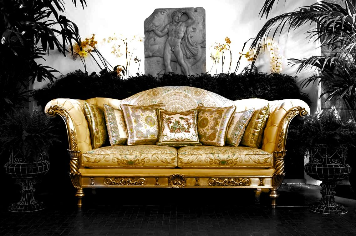 Leather Sectional Sofa Versace Home Exhibitor at Salone Del Mobile SaloneDelMobile Milan Design iSaloni