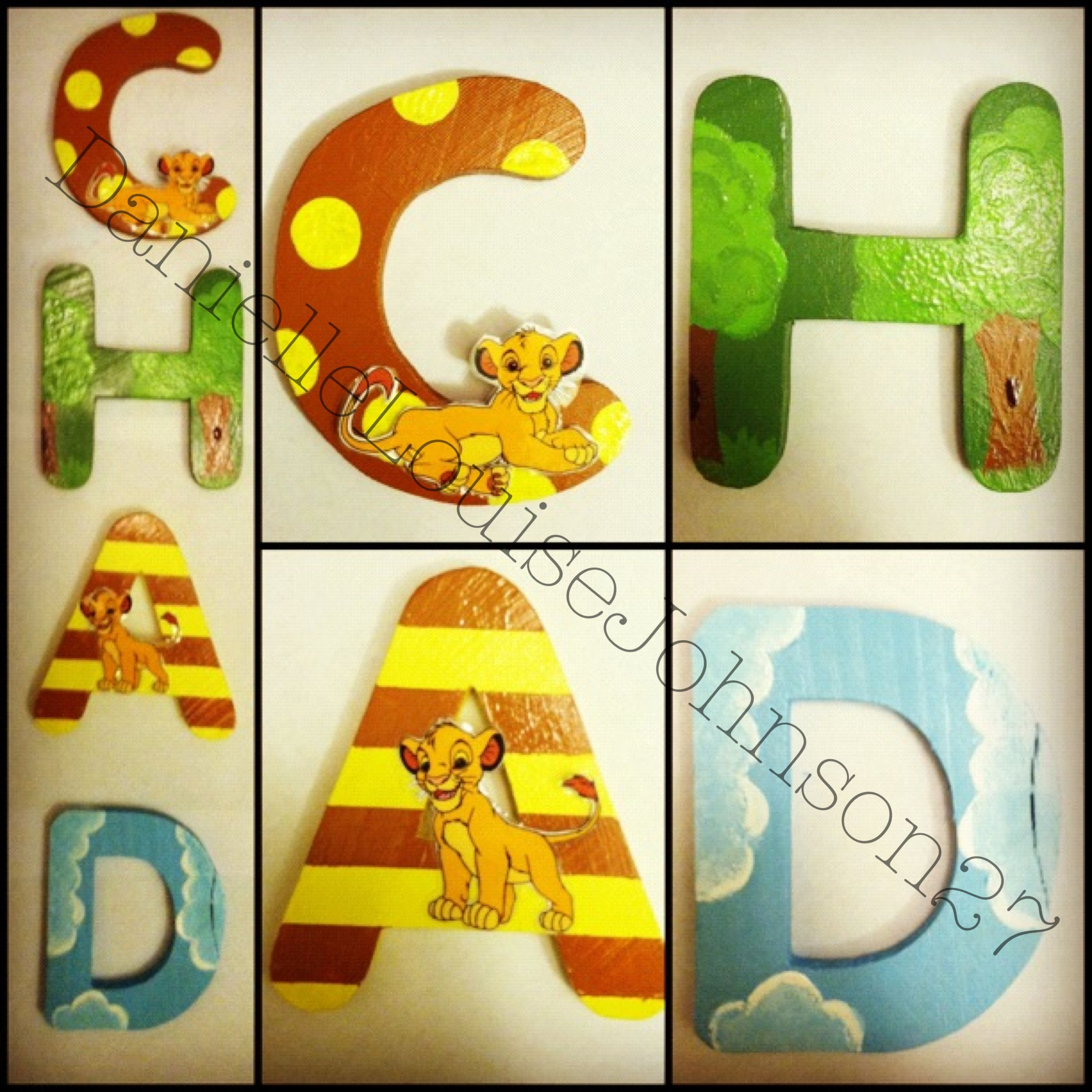 Lion King theme nursery / room wall decor. | CaseyRoadCrafts ...