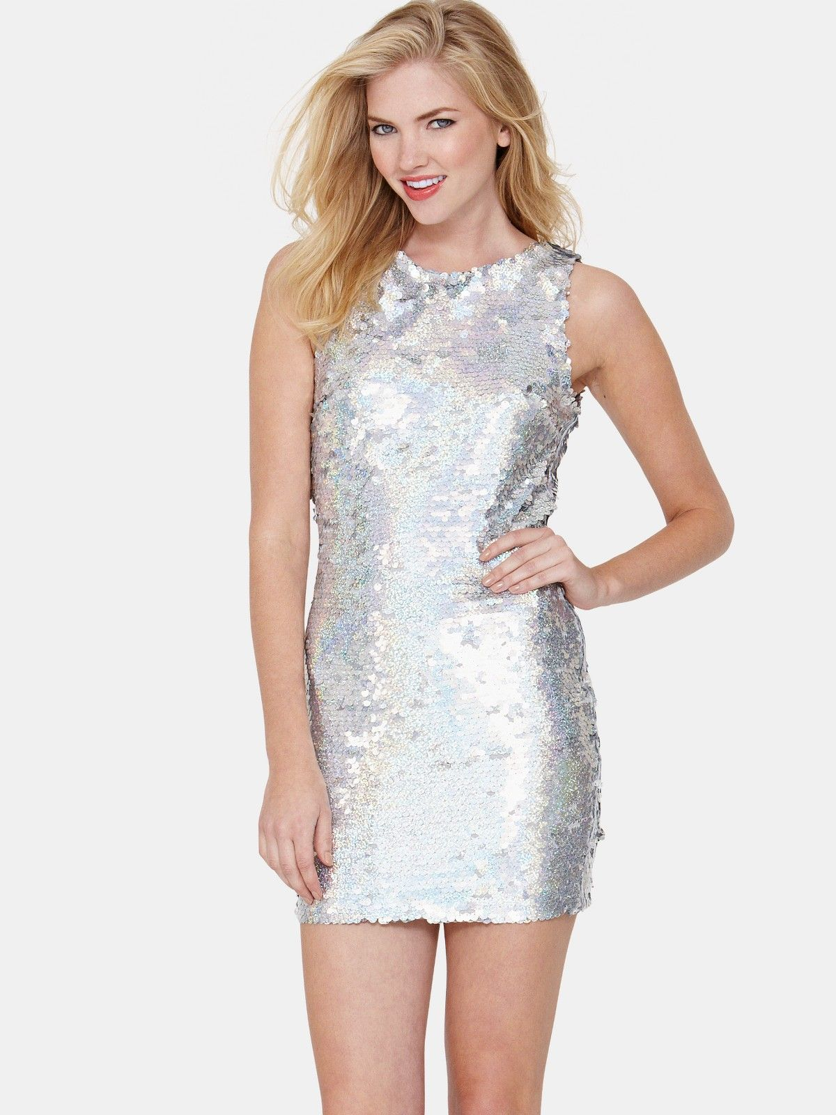 Love Label Holographic Bodycon Sequin Dress | Winter Style ...