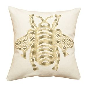 What Delilah Did: Cross Stitch patterns - Image of The Bee Printed Cross Stitch Cushion Kit