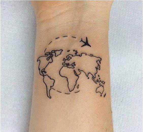 Weltkarte Tattoo-Ideen für diejenigen, die gerne reisen Travel - #die #diejenigen #für #gerne #reisen #tattoo #TattooIdeen #Travel #Weltkarte